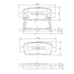 J3611044 - Brake Pad Set, disc brake