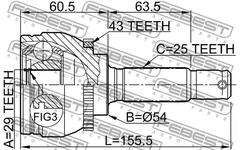 0410-DA2A43 - Joint, drive shaft