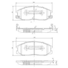 J3600526 - Brake Pad Set, disc brake