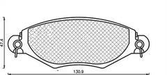 430216171039 - Brake Pad Set, disc brake