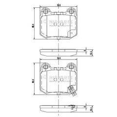J3611049 - Brake Pad Set, disc brake