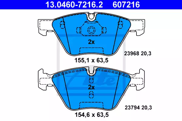 13.0460-7216.2 - Brake Pad Set, disc brake