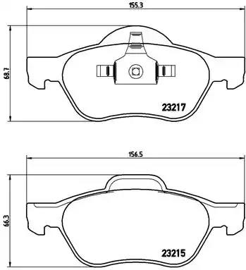 P 68 048 - Brake Pad Set, disc brake