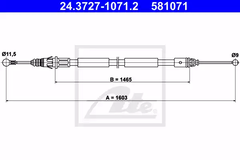 24.3727-1071.2 - Cable, parking brake