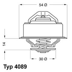 4089.87D - Thermostat, coolant