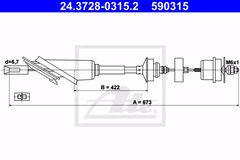 24.3728-0315.2 - Clutch Cable