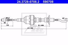 24.3728-0708.2 - Clutch Cable