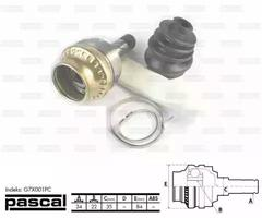 G7X001PC - Joint Kit, drive shaft