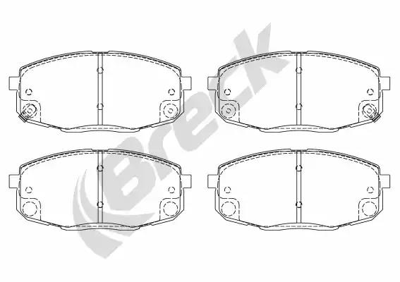 23966 00 701 10 - Brake Pad Set, disc brake